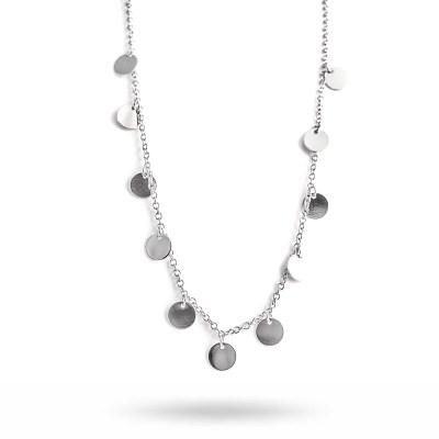 Spinn Coin halsband, silver