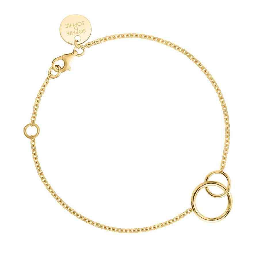 Circle bracelet, guld