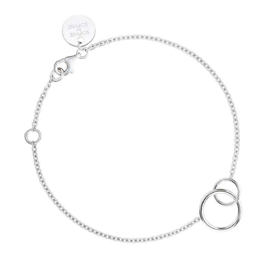 Circle bracelet, silver