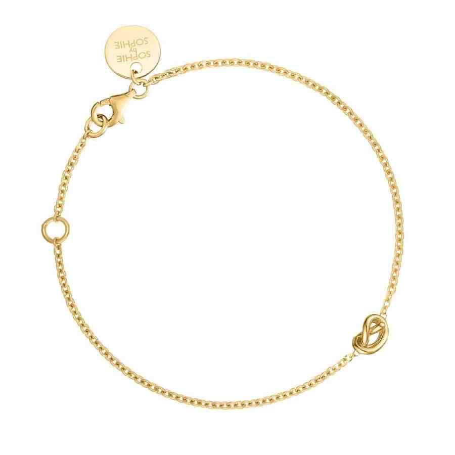 Knot armband, guld