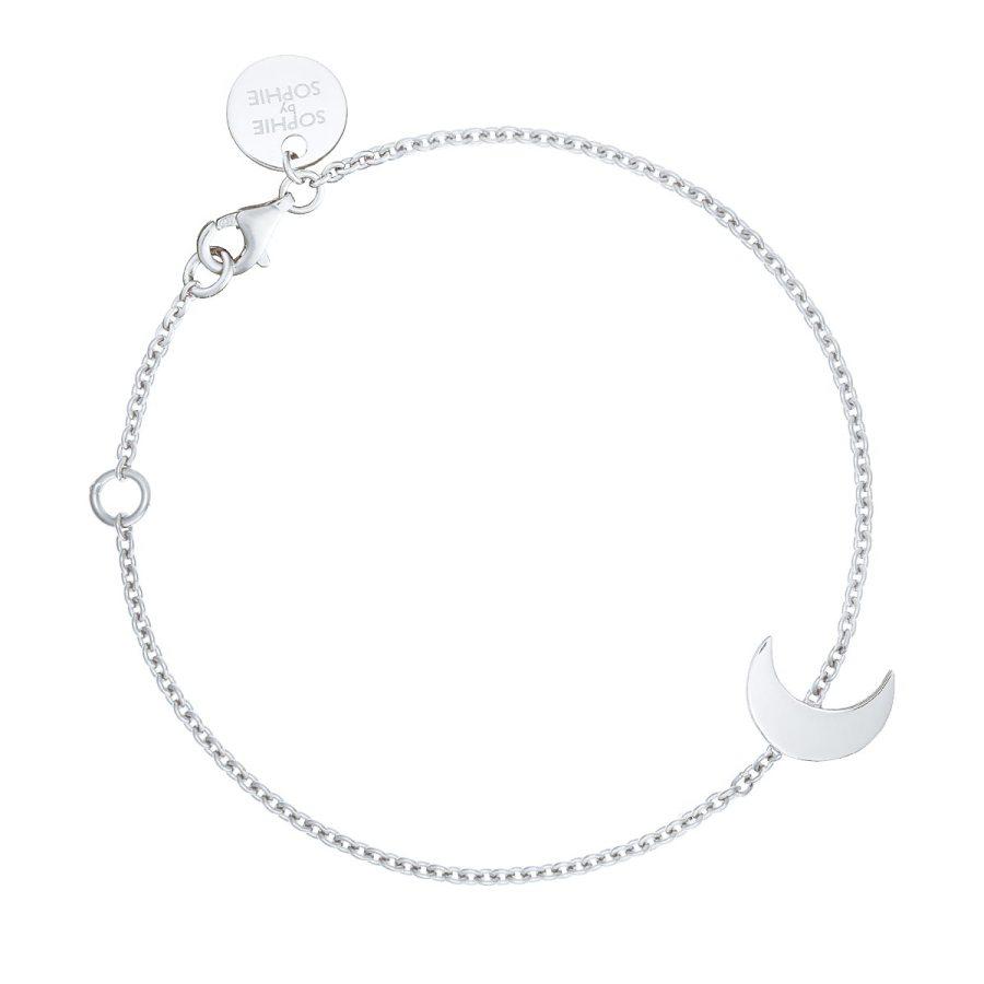 Moon bracelet, silver