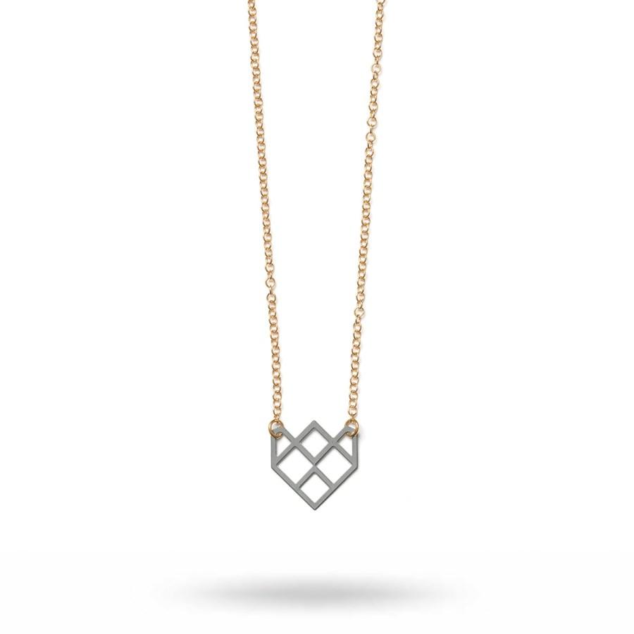 Small Symmetric Halsband, stål