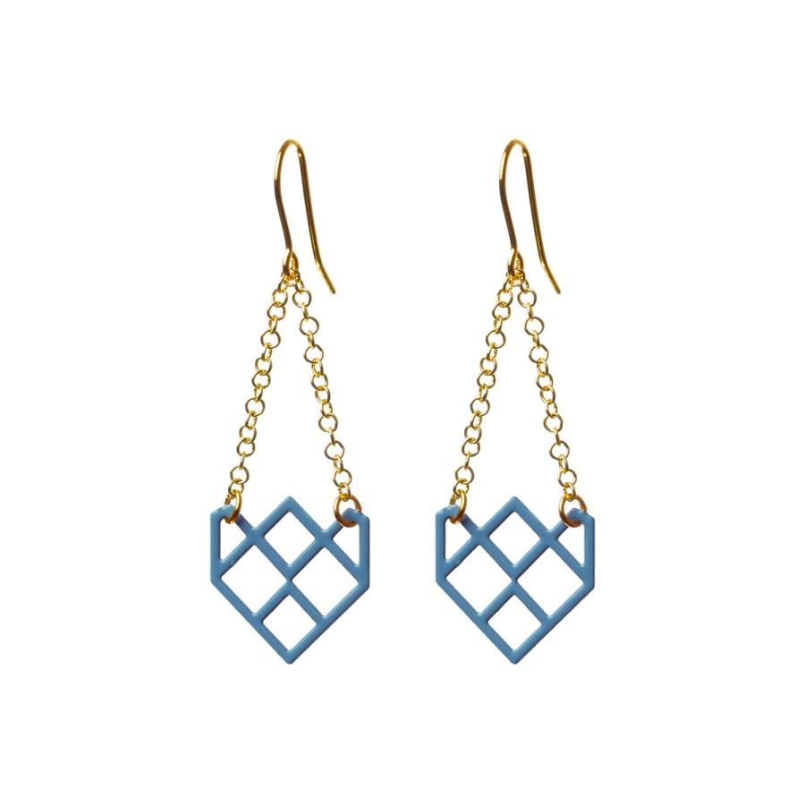 Small Symmetric Örhängen, blå