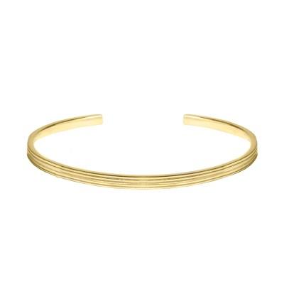 Small Twisted örhängen 3 mm, guld