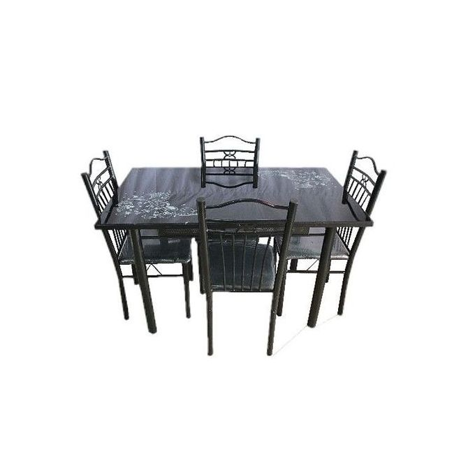 table a manger 4 places en fer forge table vitree