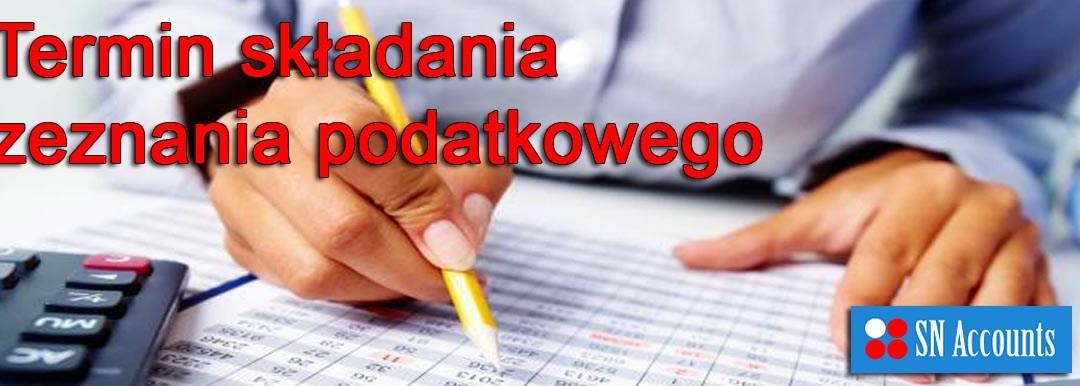 Termin składania zeznania podatkowego Self Assessment