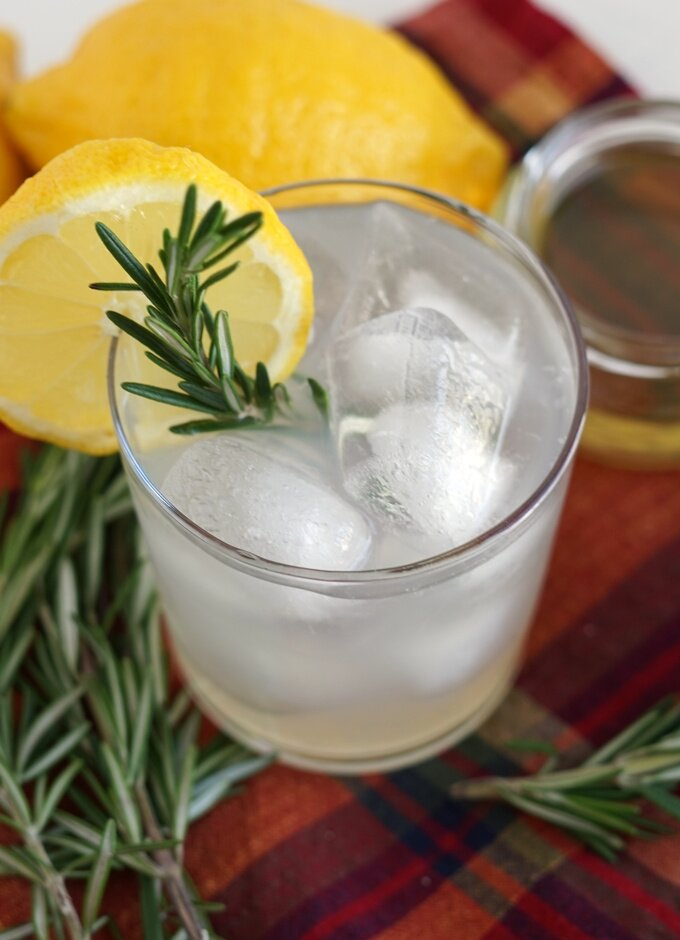 Homemade Rosemary Lemonade