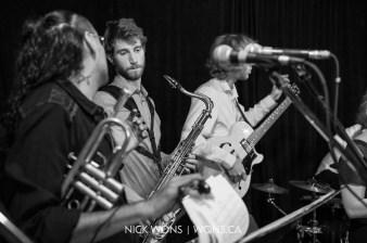 Horns and Guitar at May
