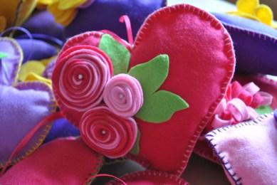 cuore in panno lenci