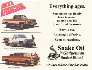 Tired treasures get  new life with a little Snake Oil!
