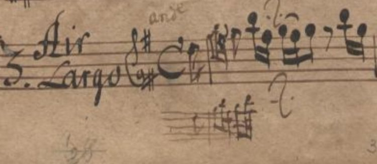 Flute part wrote in Pisendel's part of a Fasch Suite (Mus. 2423-N-3)