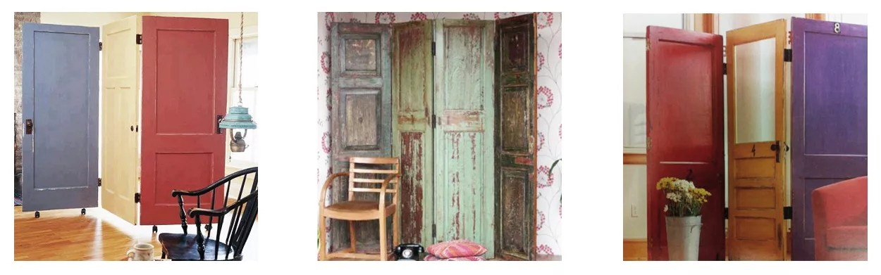 Biombo con puertas de madera - Puertas de biombo ...