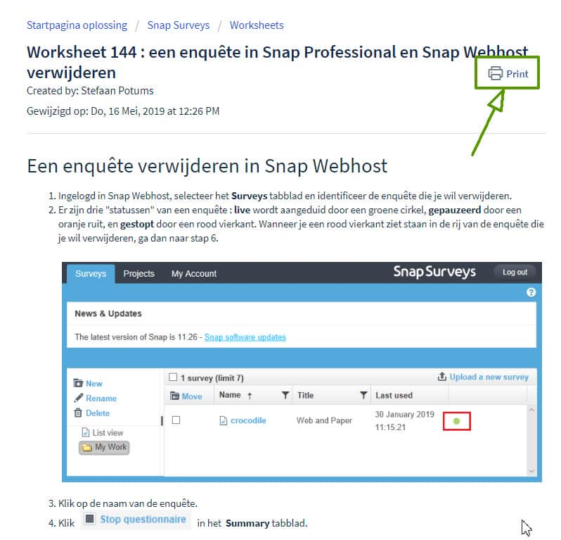 screenshot worksheet printfunctie