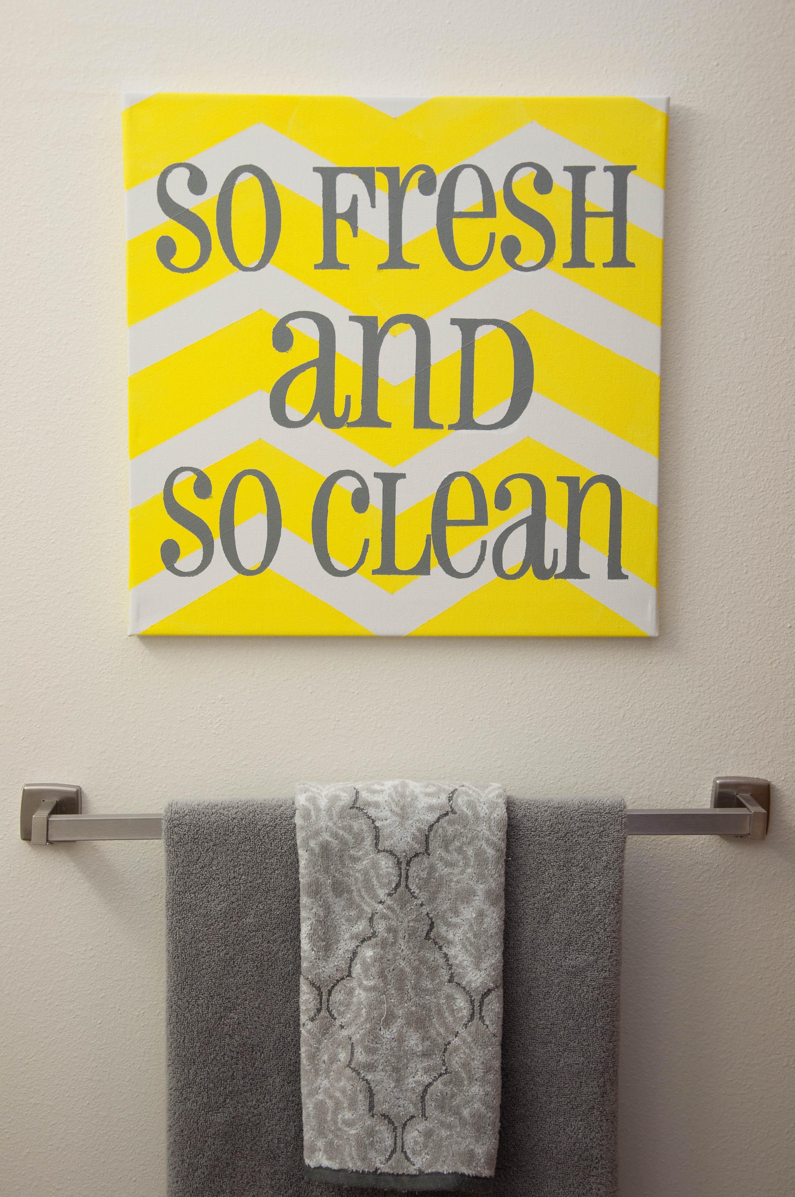 Gray And Yellow Bathroom Snap Eat Run