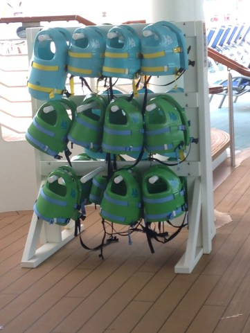 Life jackets provided for little swimmers.