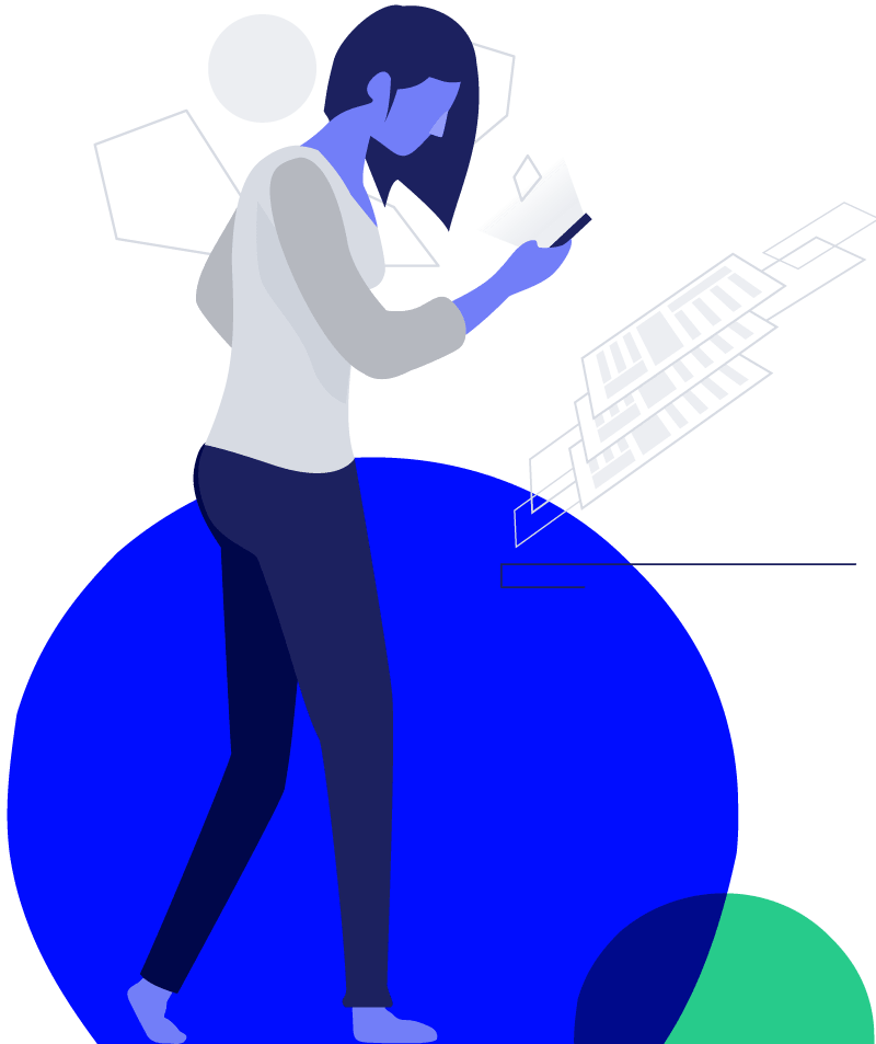 illustration of woman doing business