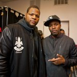 Ndamukong Suh of the Detroit Lions & DJ Graffiti at Burn Rubber, Royal Oak MI