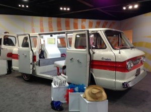 Photo Booth built into van at North American International Auto Show at Cobo Hall in Detroit, Michigan