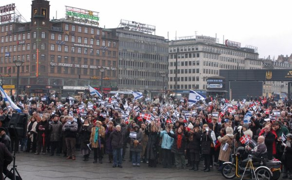 Pro-Israel demonstration in Copenhagen