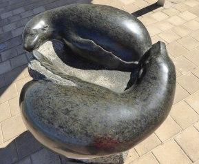 Sealion Bird Bath by Silvio Apponyi