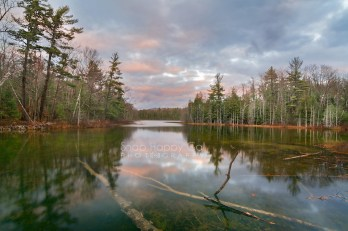 Photo: sunset reflections, Ransom Lake