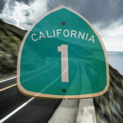 PCH - Route 1 Sign