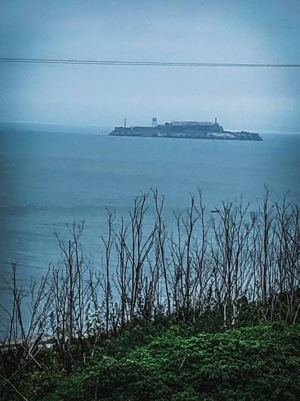 Alcatraz Island in Distance