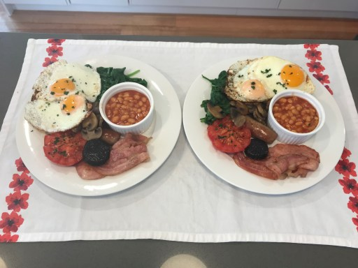 Snapper House special breakfast