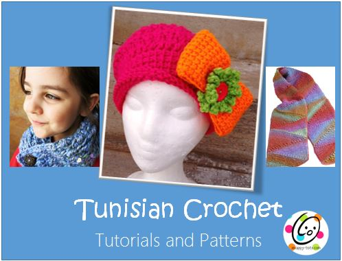 Tunisian Crochet tutorials and patterns from a variety of designers.