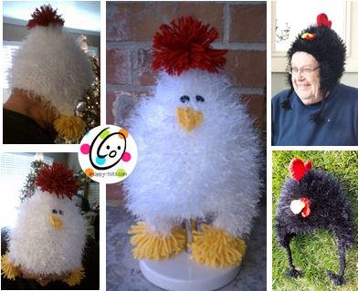 Free Pattern: Chicken and Rooster Hats