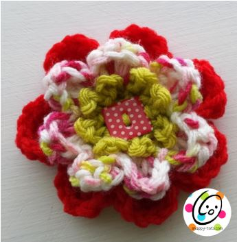 Free Pattern: Colorful Blossom Flower