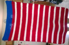 By Margaret Worman. A beautiful patriotic blanket she made for ME! YAY