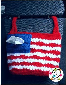 Pattern: American Car Tote Bag