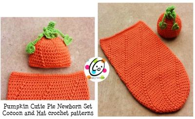 Pattern: Newborn Baby Pumpkin Hat and Cocoon