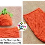 Free Pattern: Newborn Baby Pumpkin Hat and Cocoon