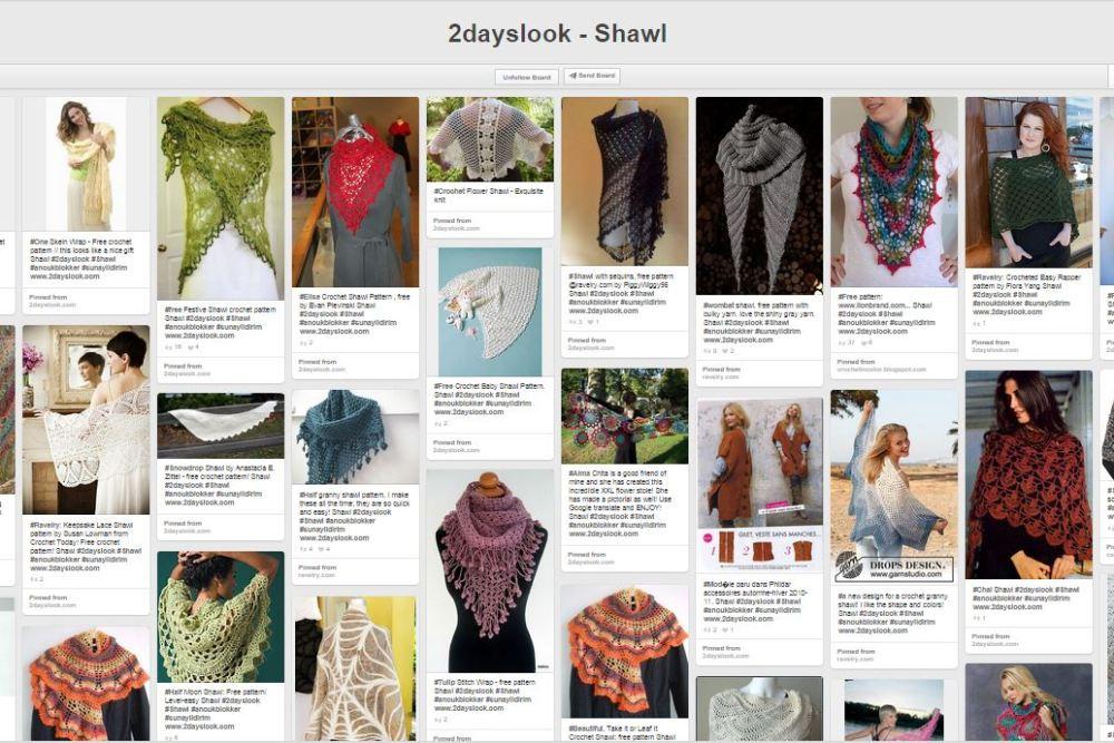 Top Picks: Pinterific Board of the week – Shawl patterns