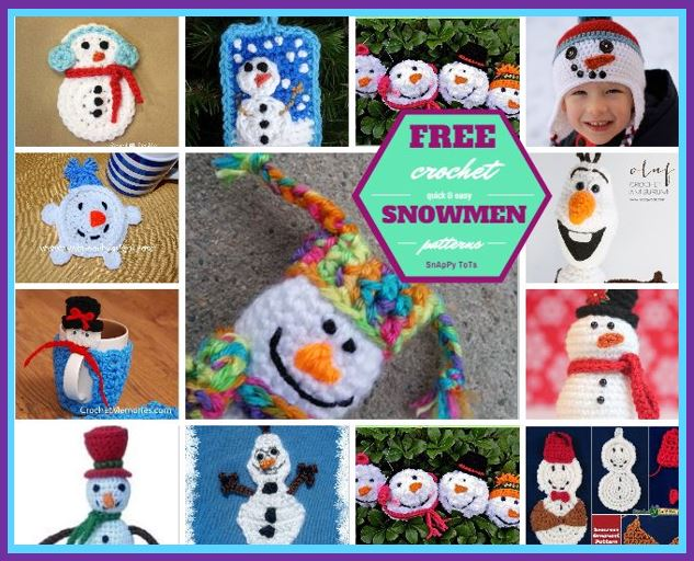 Free crochet snowmen patterns.