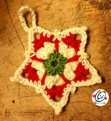 Free star ornament crochet pattern.
