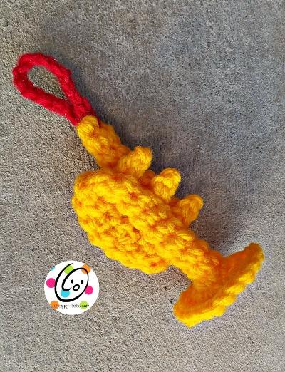 Free crochet trumpet pattern.