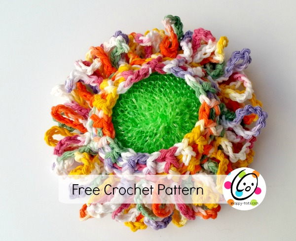 Free crochet pattern. Kitchen and bath scrubbie.