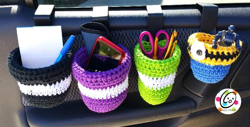 Free crochet pattern ~ car caddies