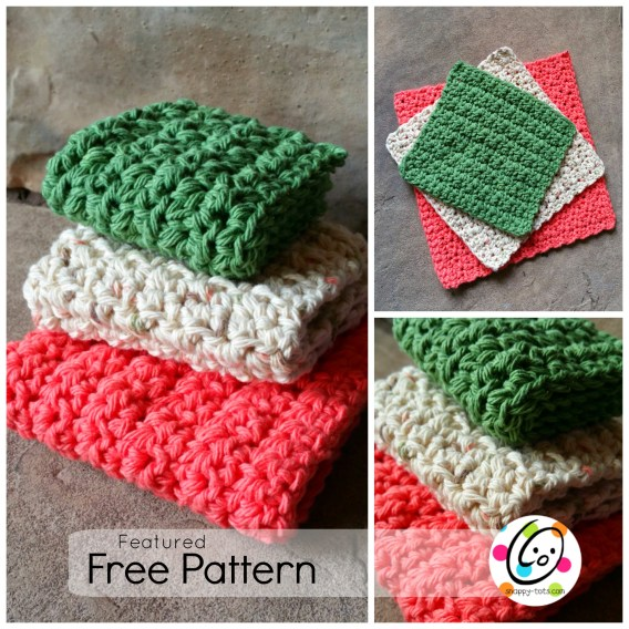 Featured Free Pattern Just Right Dishcloths Snappy Tots