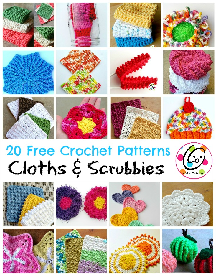 Top Picks 20 Free Crochet Cloth And Scrubby Patterns Snappy Tots