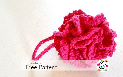 Featured Free Pattern: Red Carnation Pot Scrubber