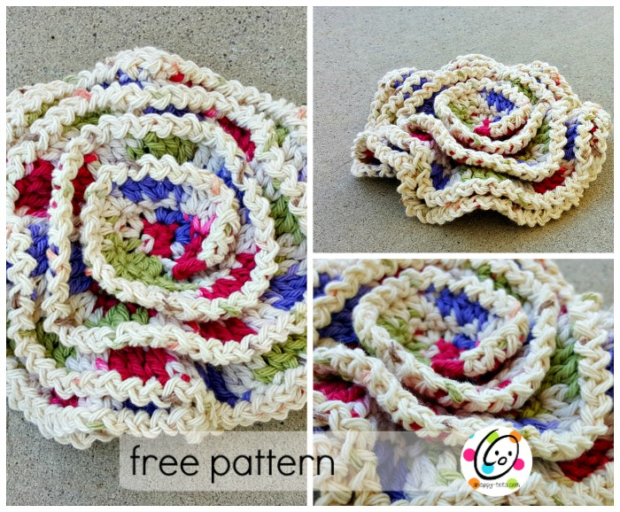 wavy layers scrubby free crochet pattern