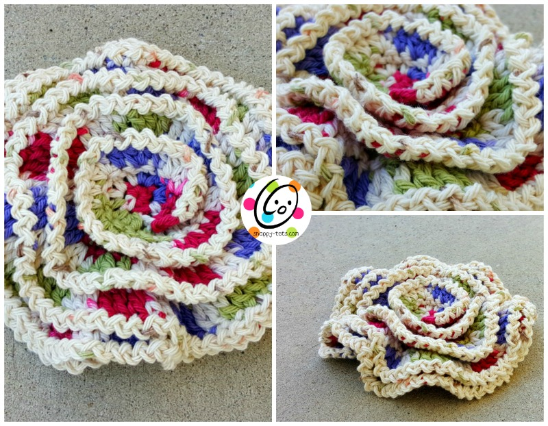 Perfecto Patrón De Crochet Scrubbie Espiral Motivo - Ideas de ...