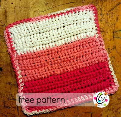 Free Pattern and New Stitch: Chunky Scrubber