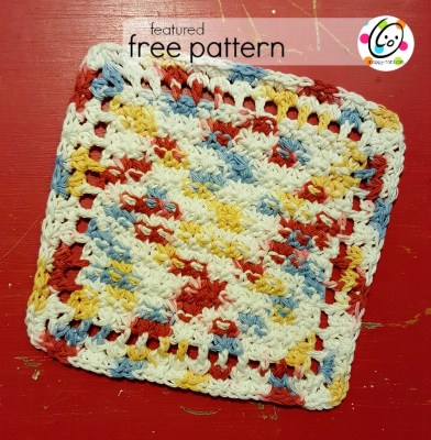 Featured Free Pattern: Little Starburst Dishcloth