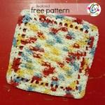 Freebie: Little Starburst Dishcloth