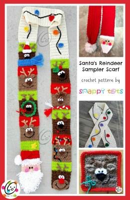 Crochet: Santas Reindeer Scarf Pattern